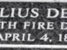 Julius Deiser Name Plate
